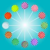 Kolorów lizaków wektoru ilustracja Obrazy Stock