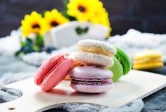 Kolorów macaroons Fotografia Stock