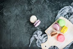 Kolorów macaroons Fotografia Royalty Free