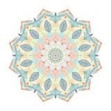 Kolorów mandala kwiatu kształt dla wizytówek flayers sztandarów ilustracji