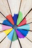 Kolorów ołówków kurenda Patern obraz stock