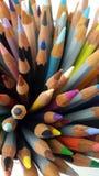 Kolorów ołówków widok od wierzchołka Obraz Royalty Free