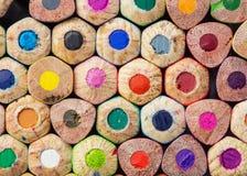 Kolorów ołówków zakończenia fotografia Zdjęcia Stock