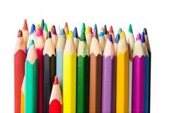 Kolorów ołówków zakończenia fotografia obrazy royalty free