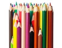 Kolorów ołówków zakończenia fotografia obraz stock