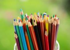 Kolorów ołówków zakończenie Obrazy Stock