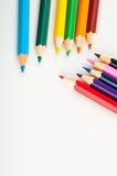 kolorów ołówki, żywy skład Obrazy Stock