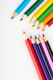 kolorów ołówki, żywy skład Obraz Royalty Free