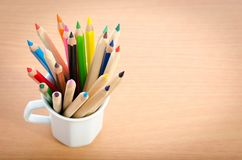 Kolorów ołówki fotografia royalty free