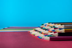 Kolorów ołówki Zdjęcie Stock