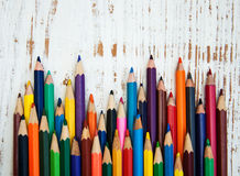 Kolorów ołówki Zdjęcia Royalty Free