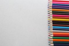 Kolorów ołówki dla uczni i uczni fotografia stock