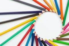 Kolorów ołówki jako tło Zdjęcie Royalty Free
