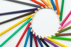 Kolorów ołówki jako tło Zdjęcia Royalty Free