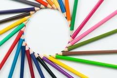 Kolorów ołówki jako tło Fotografia Royalty Free