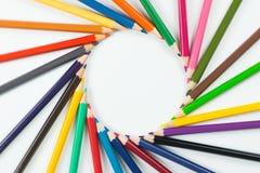 Kolorów ołówki jako tło Obraz Stock