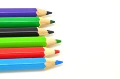 Kolorów ołówki na białym tle Zdjęcia Royalty Free