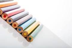 Kolorów ołówki na białym tle Obrazy Stock