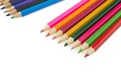 Kolorów ołówki odizolowywający Fotografia Stock