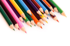 Kolorów ołówki odizolowywający Zdjęcie Stock