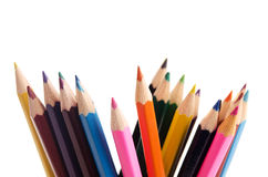 Kolorów ołówki odizolowywający Obraz Stock