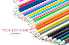 Kolorów ołówków fala Fotografia Stock