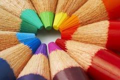 Kolorów ołówki Zdjęcia Stock