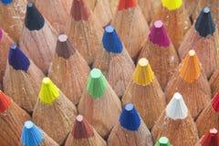 Kolorów ołówki makro- Obrazy Royalty Free