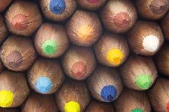 Kolorów ołówki makro- Obraz Royalty Free