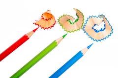 Kolorów ołówki RGB Zdjęcie Royalty Free
