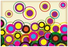 Kolorów okregów retro tło Fotografia Royalty Free