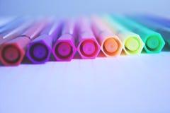 Kolorów pióra Zdjęcie Stock