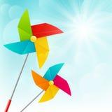 Kolorów pinwheels ilustracja wektor
