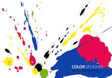 kolorów pluśnięcia Obrazy Royalty Free