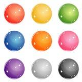 Kolorów round guziki dla sieci Fotografia Royalty Free