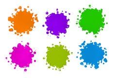 kolorów splatters Zdjęcie Stock