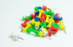 Kolorów Thumbtacks Zdjęcia Stock
