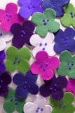 kolorów tkaniny kwiaty strzelają tapetę Obrazy Royalty Free