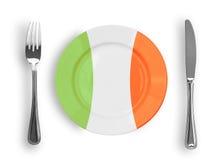 kolorów włoskiego makaronu pizzy talerza odgórny widok Obraz Stock