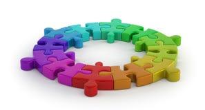 Kolor łamigłówki pierścionek Fotografia Stock