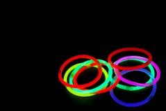 kolor światła neonowi Zdjęcia Royalty Free