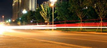 Kolor światło poręcz na drodze Zdjęcia Stock