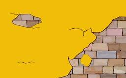 Kolor żółty ściana Obraz Stock