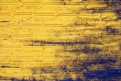 Kolor żółty ściana od cegieł dla tła Fotografia Royalty Free