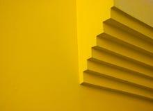 Kolor żółty ściany szczegół fotografia stock