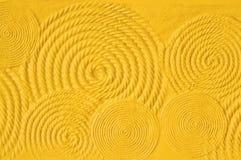 Kolor żółty ścienna tekstura Obrazy Stock