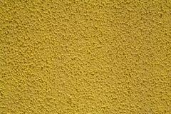 Kolor żółty ścienna tekstura dla tła Obrazy Stock