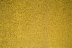 Kolor żółty ścienna tekstura dla tła Zdjęcie Stock