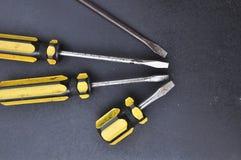 Kolor żółty śruba Zdjęcia Stock