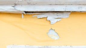 Kolor żółty żlobi malującą betonową ścianę, grunge tekstury szorstki backgrou zdjęcie royalty free